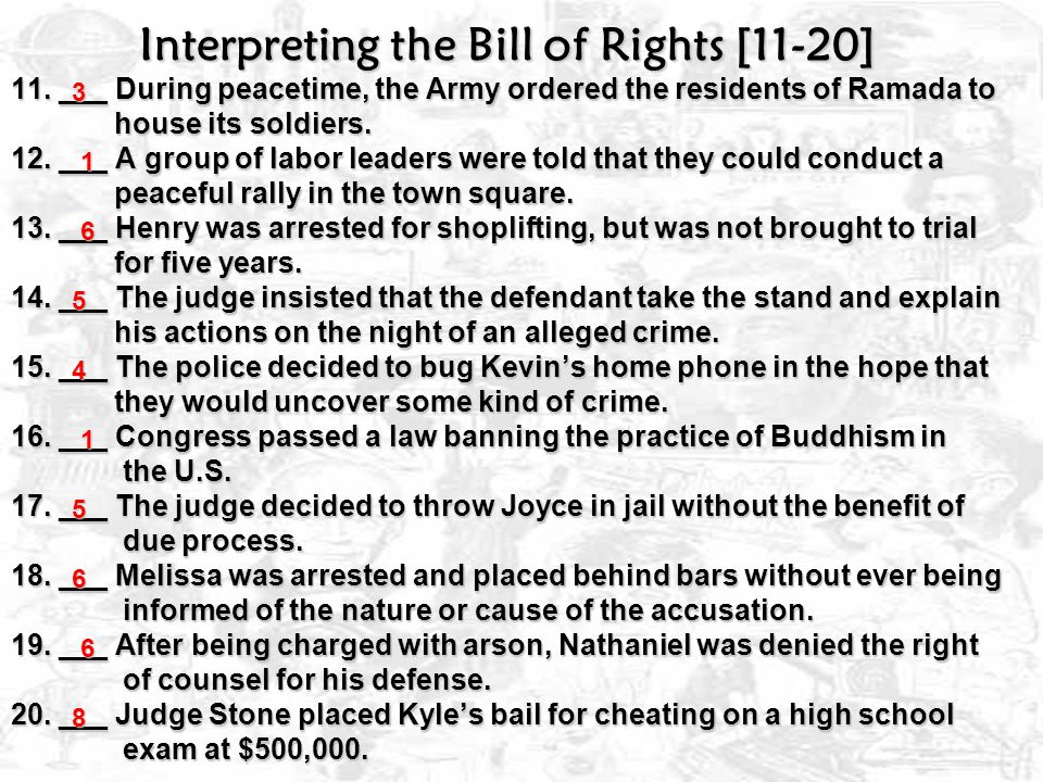 Interpreting the Bill of Rights [11-20] 11